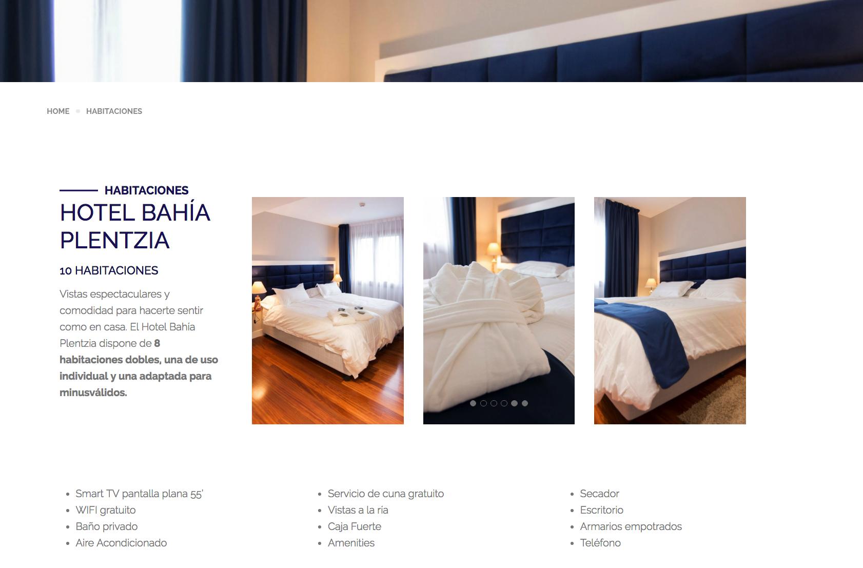 DIV creativo y web hotel